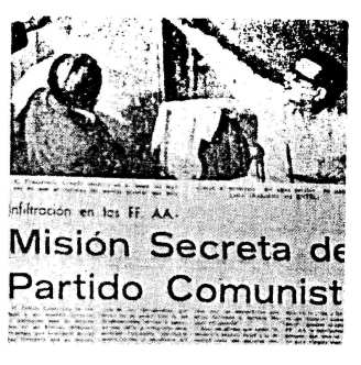 "El Mercurio, March 1, 1972: Another example of Salvador Allende placed next to a story about a Soviet nuclear submarine base story about a ""secret mission of the Communist Party."""