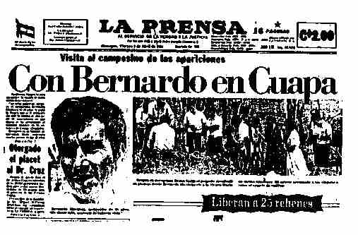 La Prensa, April 3,1981: Photo of the shepherd and the site of the visions of the Virgin.