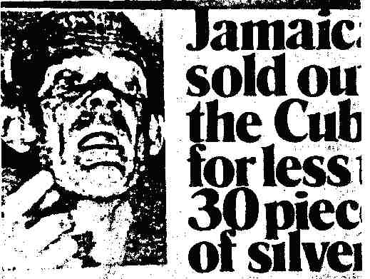 An example of the death mask photos of Michael Manley used by the Daily Gleaner.