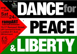 Flyer for Dance for Peace and Liberation[4]
