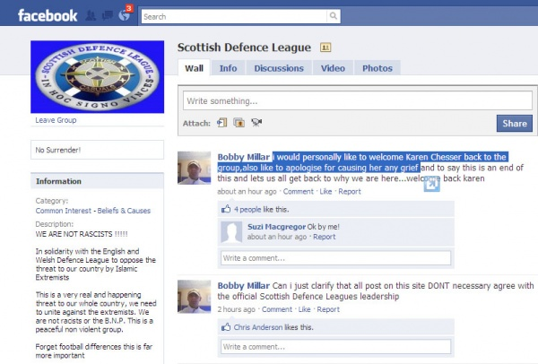 Bobby Millar allows Karen Chesser back into the SDL group.jpg